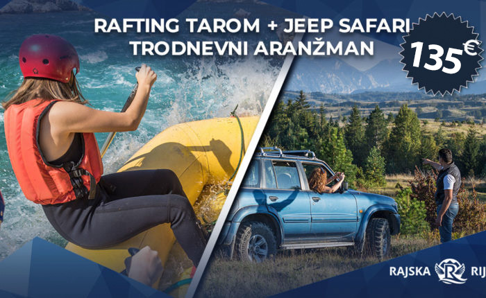 Rafting Tarom jeep safari