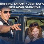 rafting tarom uz jeep safari avanturu i obilazak sarajeva