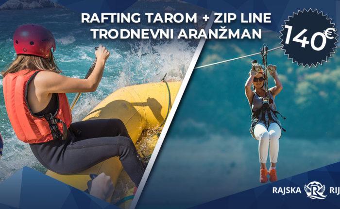 rafting tarom uz zip line avanturu