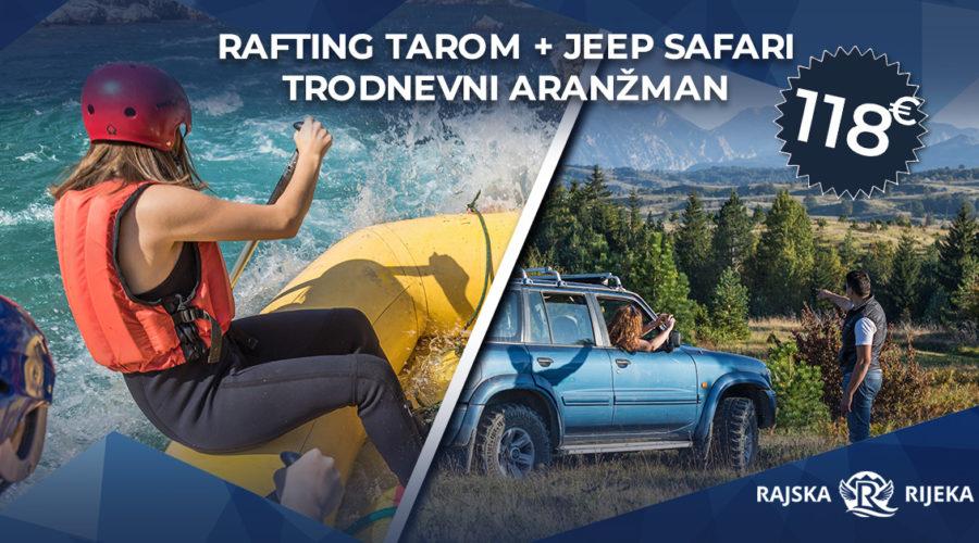 rafting tarom + jeep safari