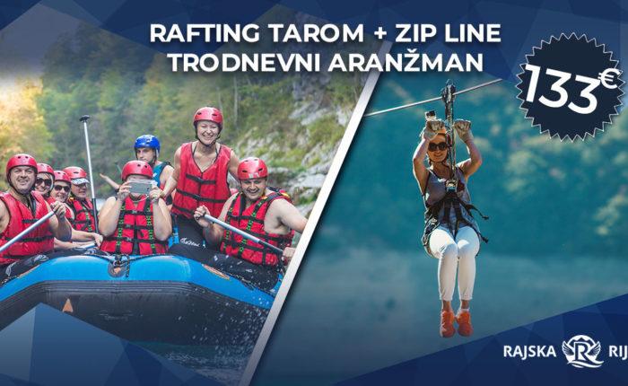 rafting tarom i zip line aranzman
