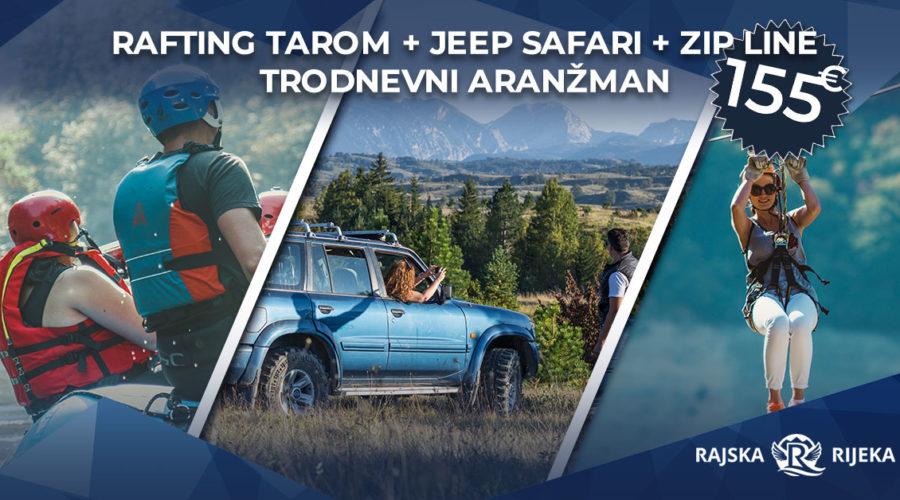 rafting tarom uz jeep safari i zip line avanture